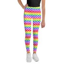 Rainbow Checkered Youth Leggings