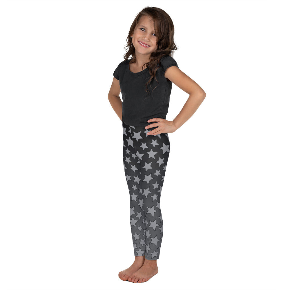 Gray Ombre Starry Kid's Leggings
