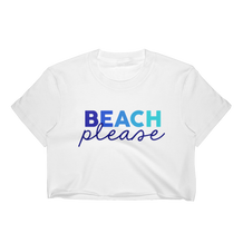 Beach Please Blue Ombre T-Shirt Crop Top