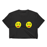 Double Smiley Weed Eyes Cropped T-Shirt