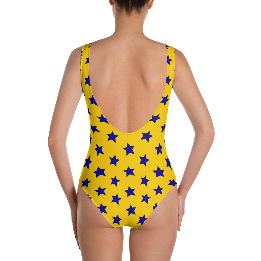 Blue & Yellow Split Stars One-Piece