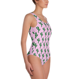 Cactus on Pink One-Piece