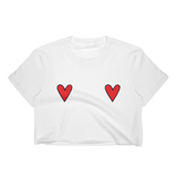 Red Hearts Cropped T-Shirt
