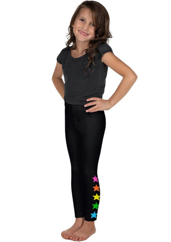 Rainbow Ankle Stars Kid's Leggings