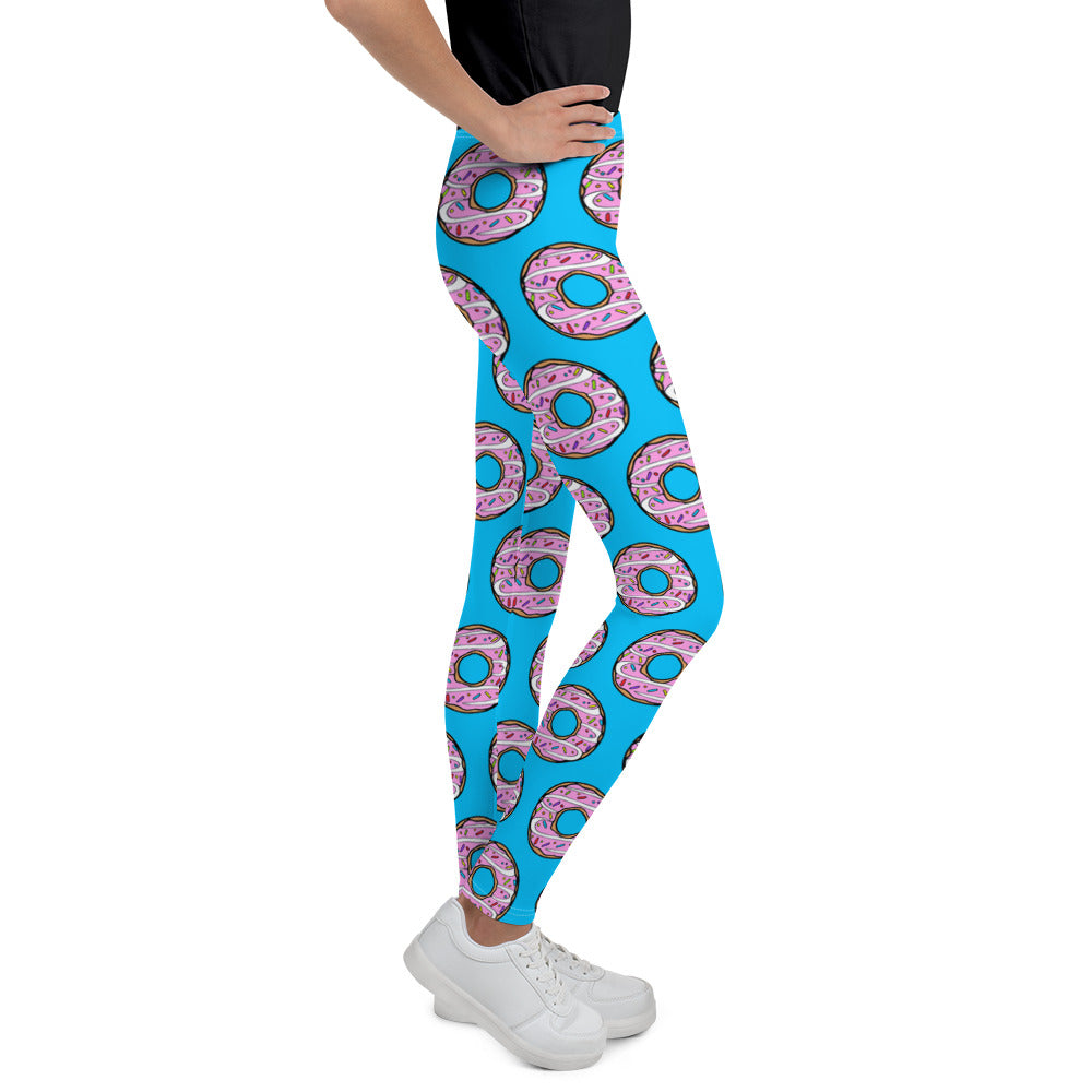 Donuts Blue Youth Leggings