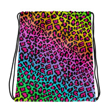 Rainbow Cheetah Print Drawstring bag