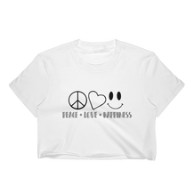 Peace Love Happiness T-Shirt Crop Top