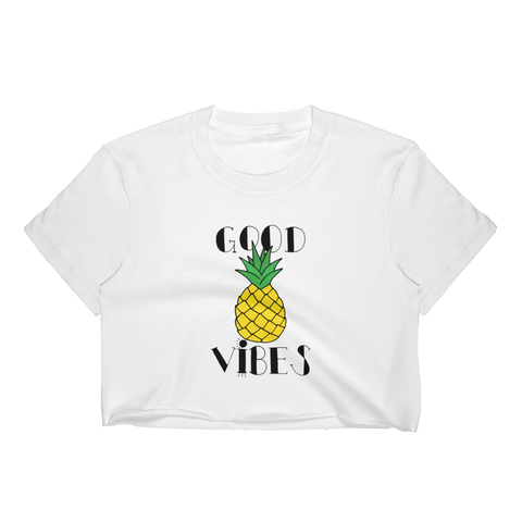 Pineapple Good Vibes T-Shirt Crop Top