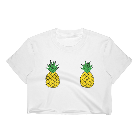 Double Pineapples Cropped T-Shirt