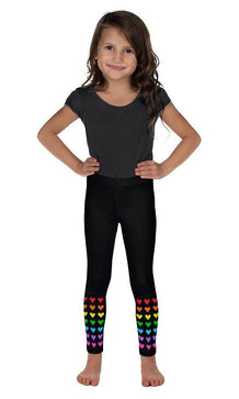 Rainbow Ankle Hearts Kid's Leggings