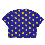 Yellow Stars on Blue Cropped T-Shirt