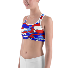 Red, White & Blue Camo Sports Bra