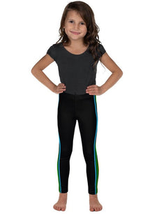 Rainbow Side Striped Kid's Leggings