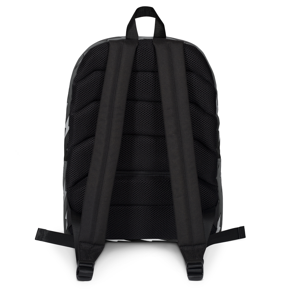Gray Ombre Lightning Bolts Backpack