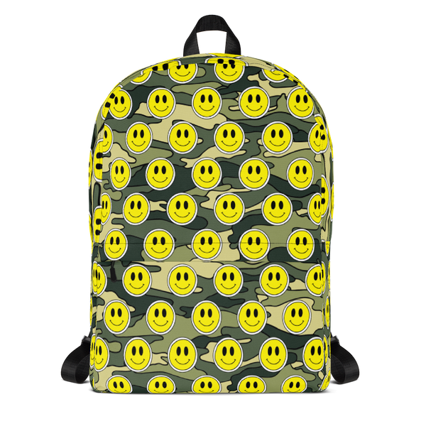 Smiley Blue Camo Backpack