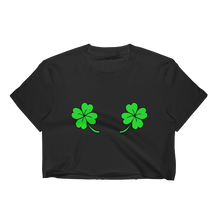 Double Shamrocks Cropped T-Shirt