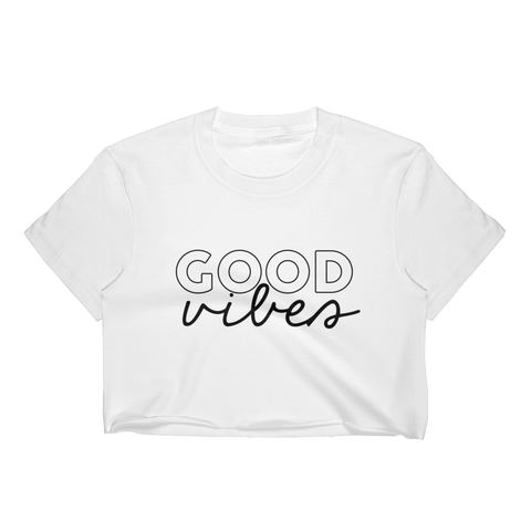 Good Vibes Cropped T-Shirt