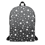 White Stars Gray Ombre Backpack