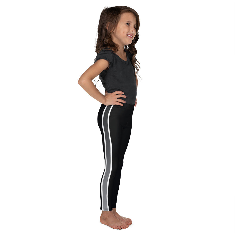 Gray Ombre Side Stripe Kid's Leggings