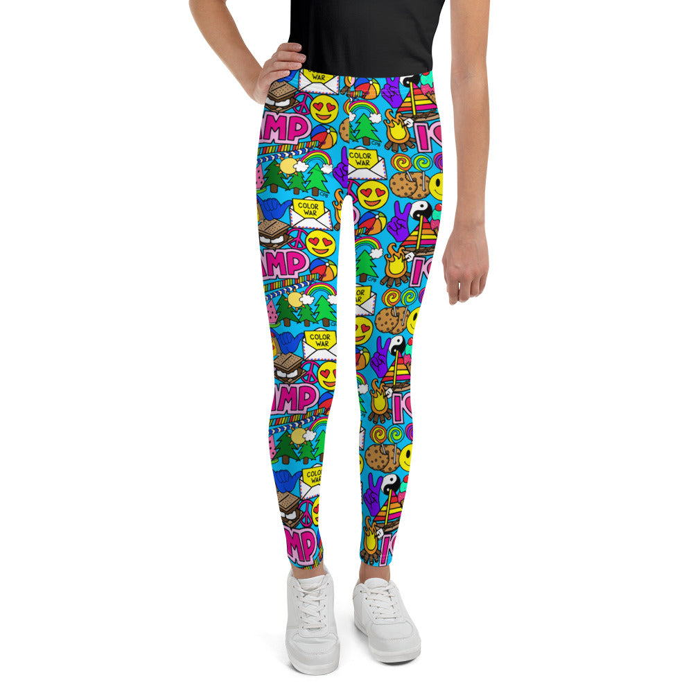 I Love Camp Youth Leggings