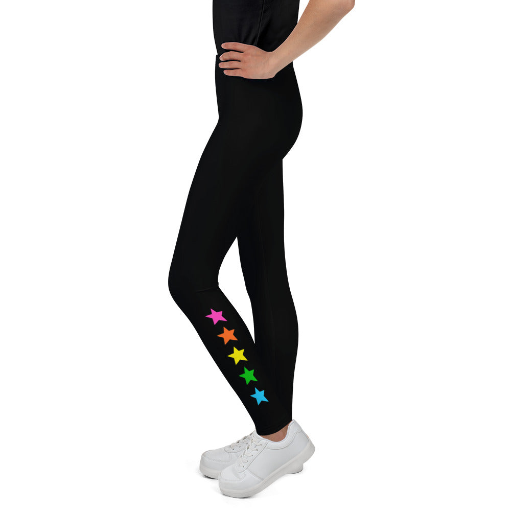 Rainbow Ankle Stars Youth Leggings