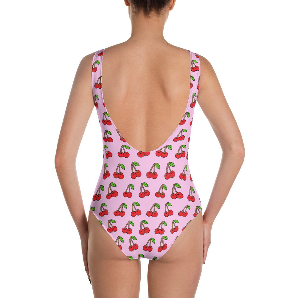 Cherries on Pink One-Piece