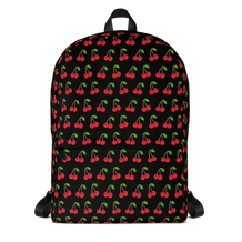 Cherries Black Backpack