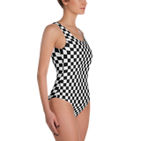 Black & White Checkered One-Piece