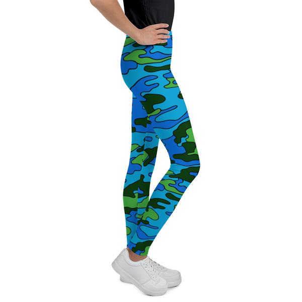 Colored Camouflage Youth Leggings