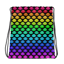 Rainbow Lips Drawstring bag