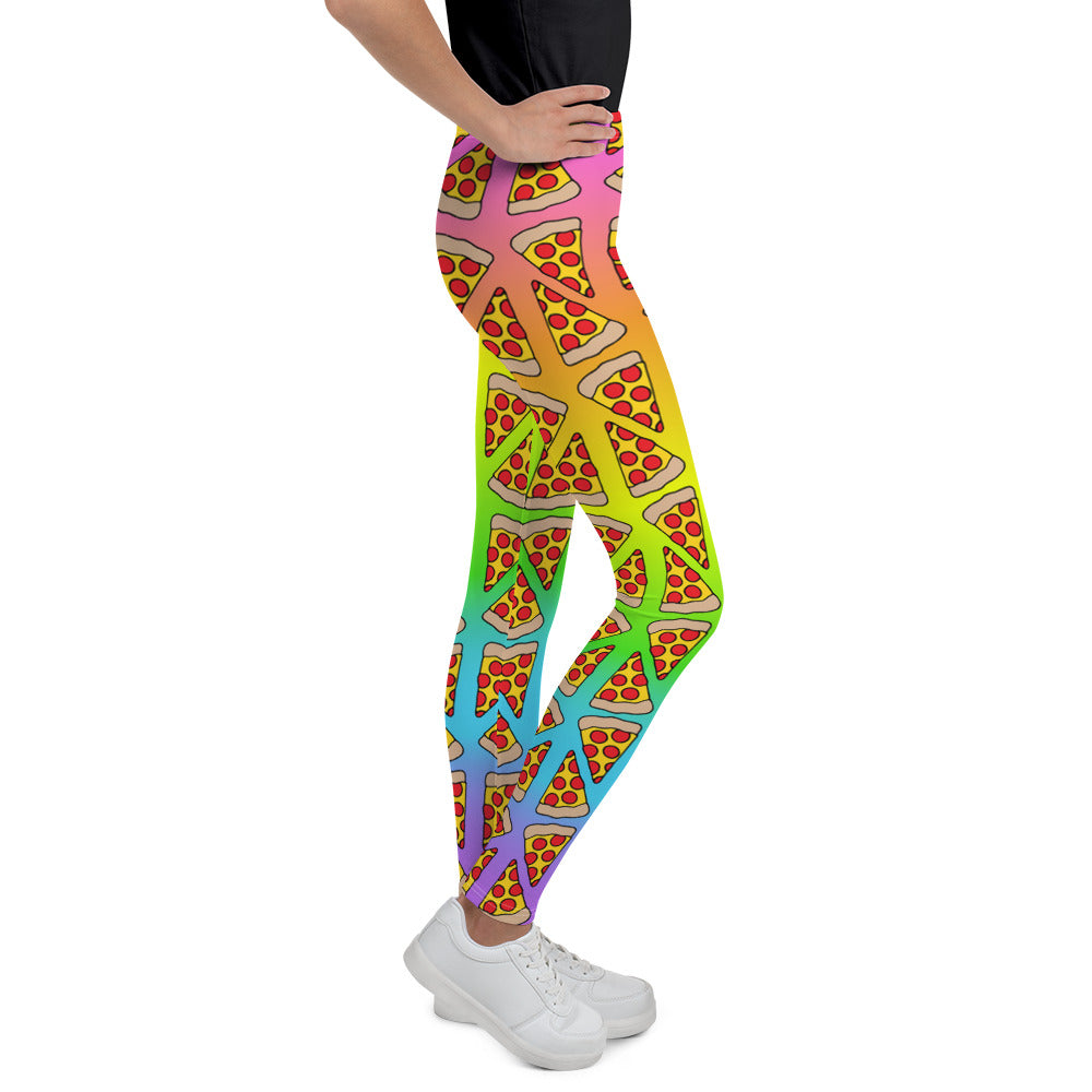 Pizza Rainbow Ombre Youth Leggings