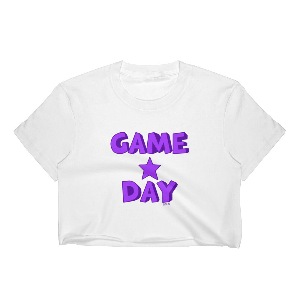 Game Day Star Stacked Cropped Tee