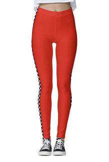 Red Trackside Leggings