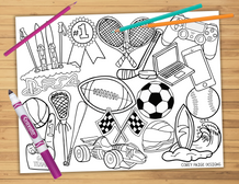 Sports Coloring Sheet