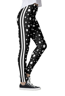 Black & White Stars & Stripes Leggings