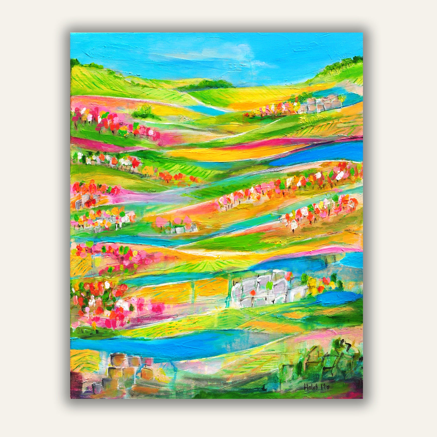 "Portugal Vineyards -  24""H x 18""D"