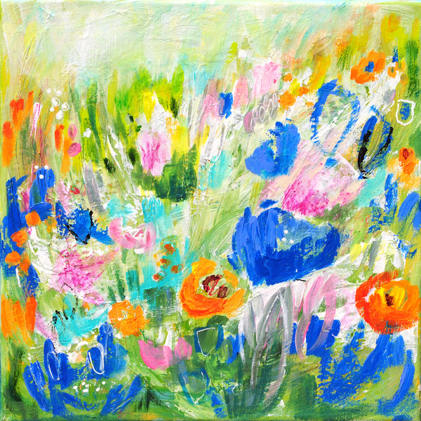 "A Happy Beat Floral #2 - 12""x12"""