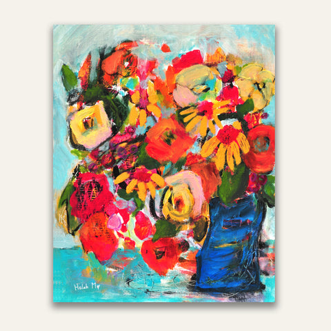 "Autumn Flower Bouquet - 14""x11"""