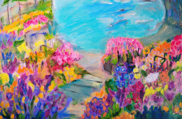 "Carmel by the ocean - 40""W x 30""H"