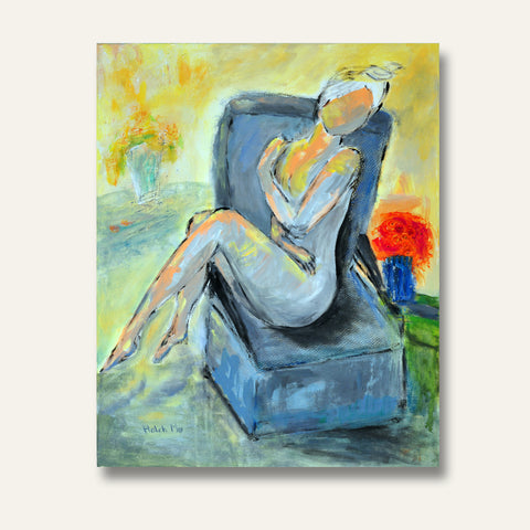 "Girl at the Spa - 24""H X 18""W"
