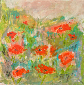 "Orange Poppies - 12""x12"""