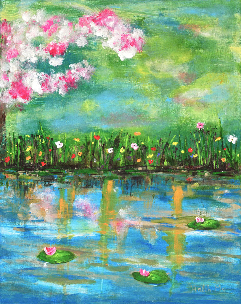 "Reflections Of Spring - 20""Hx16""W"