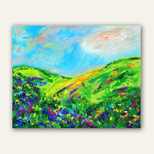 "Let the Spring Air Kiss Your Face- 30""W x 24""H"