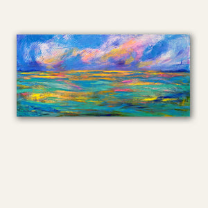 Ocean Sunset abstract painting