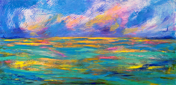 "When Sun Kisses The Ocean - 30""W X 15""H"