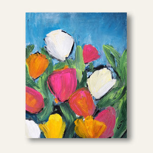 "Beauty of White Tulips - 15""x11"""