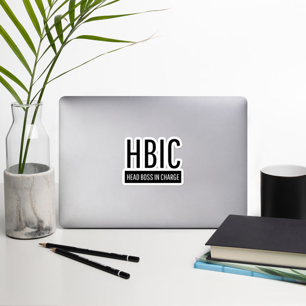 HBIC Sticker in Black