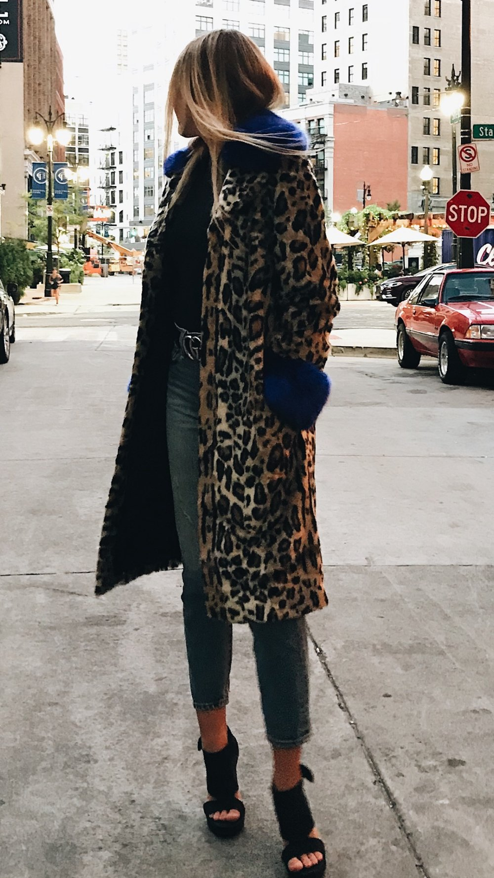 JACKIE Faux Leo Coat by Just Female - Lindsey's Kloset