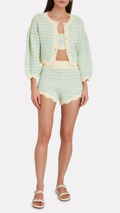 Lizzy Striped Knit Shorts - ONFEMME By Lindsey's Kloset