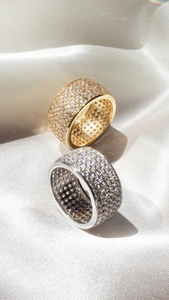 Pave Cigar Ring - ONFEMME By Lindsey's Kloset